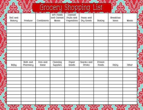 17 Best Shopping List Templates & Printables Images On
