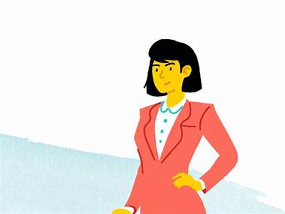Animation Dribbble Friday Animated Woman Business Flat