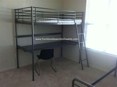 desk under bed ikea ikea loft bed with desk assembled in washington dc by