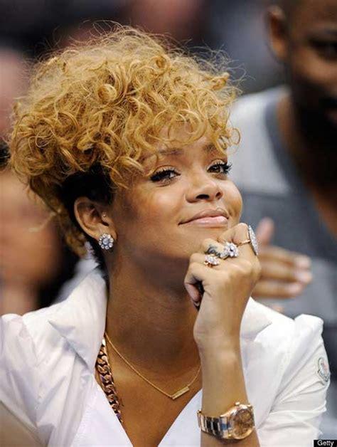 New Rihanna Blonde Short Hair   Short Hairstyles 2016