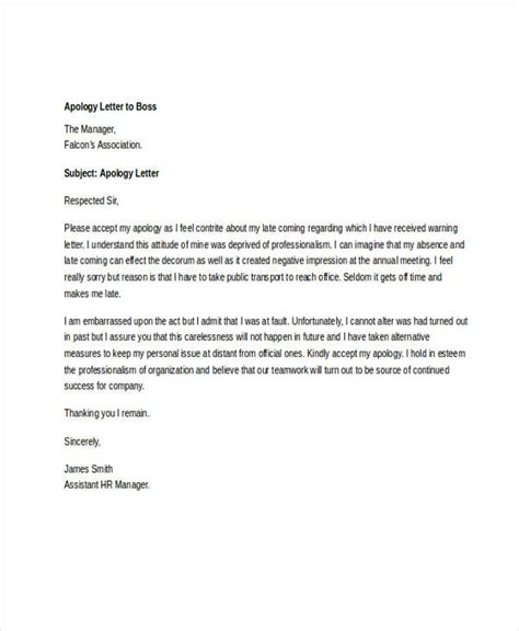 sincerest apology letter   boss  mistake