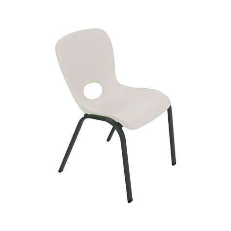 lifetime stacking chairs 2830 lifetime almond stacking chair set of 4 80383 the