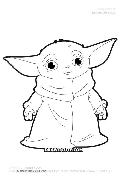 Baby Yoda Draw & Color | Star wars drawings, Yoda art ...