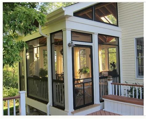 Sunrooms And Porches by Screened In Porch Sunroom Exterior Design Ideas