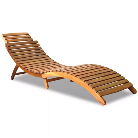 chaise longue en bois vidaxl co uk outdoor foldable sun lounger acacia wood