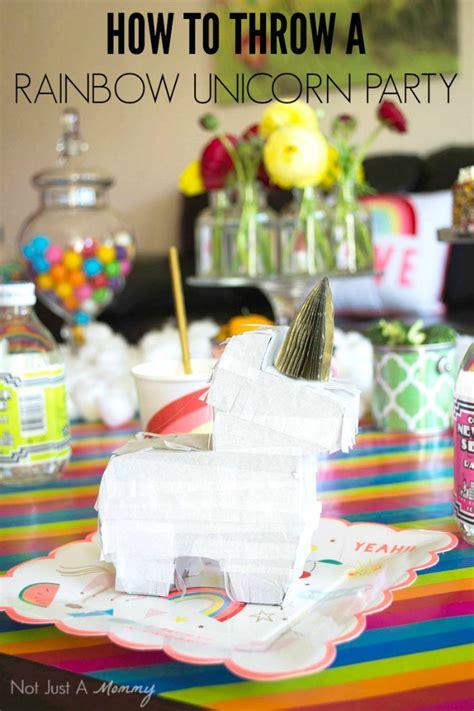 rainbow unicorn party ideas moms munchkins