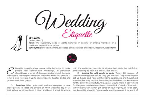 Wedding Etiquette Rules To Keep ... And Toss