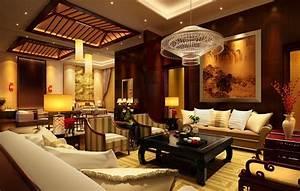Divine Asian Living Room Interior Design Idea With Sofa
