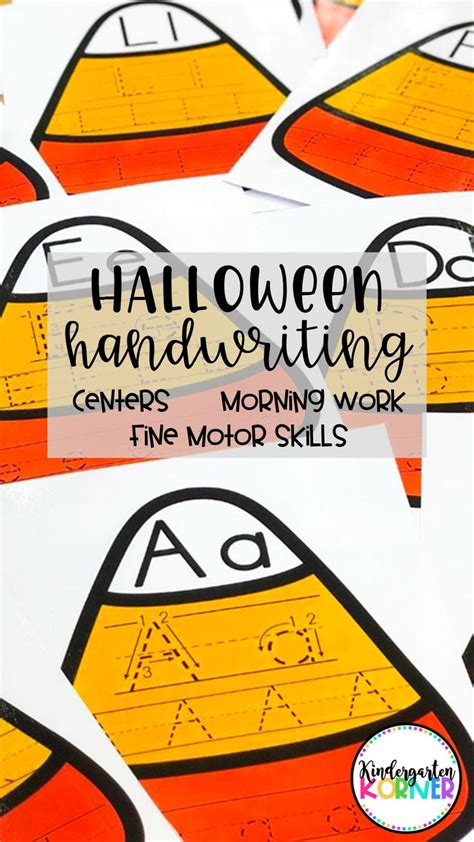 halloween writing center alphabet tracing mats fine