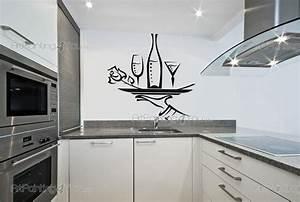 Stickers Muraux Cuisine : stickers muraux cuisine bouteille de vin 1687fr ~ Premium-room.com Idées de Décoration