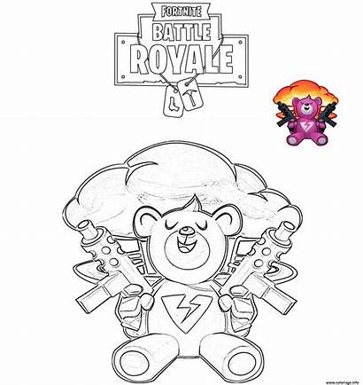 Fortnite Coloring Coloriage Bomber Battle Royale Dessin