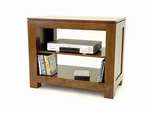 Petite Etagere Bois : petit meuble tv ouvert holly 1 tag re meubles bois massif ~ Teatrodelosmanantiales.com Idées de Décoration