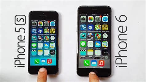 iphone 5s vs iphone 6 iphone 6 vs iphone 5s speed test