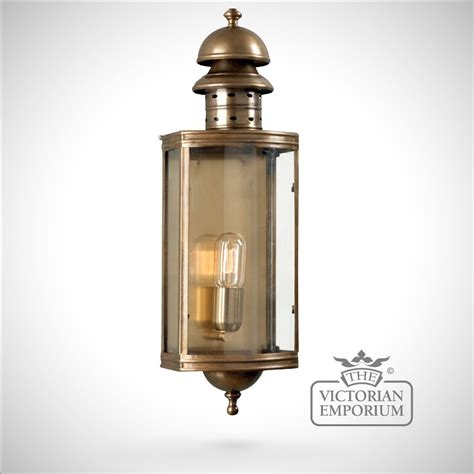 downing brass wall lantern antique brass