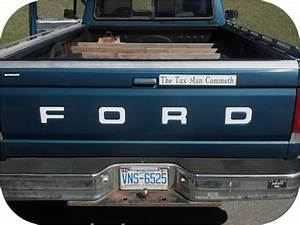 white 87 93 ford pickup truck fleetside bronco tailgate With ford tailgate letters