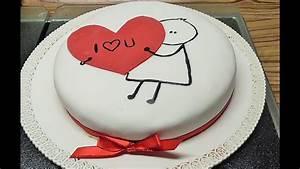 Valentinstag Kuchen In Herzform : sticker torte mit herz zum valentinstag youtube ~ Eleganceandgraceweddings.com Haus und Dekorationen