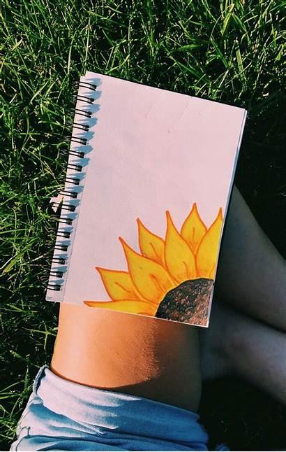Drawing Aesthetic Drawings Easy Vsco Sunflower Paintings