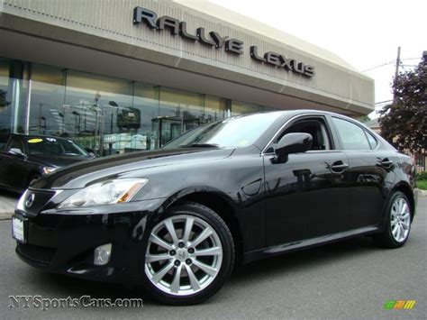 black lexus 2007 2007 lexus is 250 awd in obsidian black 014343