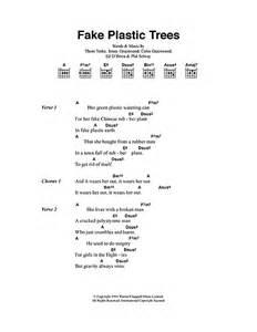 plastic trees sheet by radiohead lyrics chords 40592