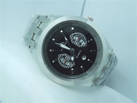 jam tangan naviforce original swiss army quiksilver ripcurl gc silver turtle stainless silver