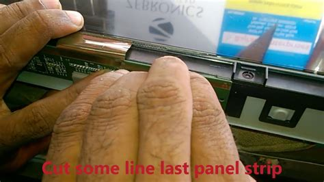 how to repair lcd tv double image complaint youtube