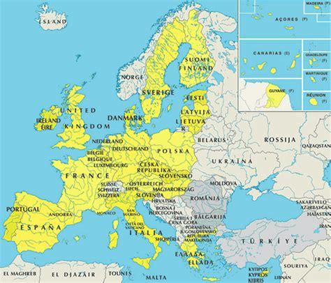 Europe Occidentale Carte by Western Europe Travelsfinders