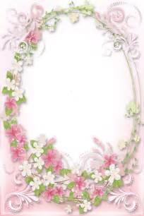 Soft Pink Flowers Frame