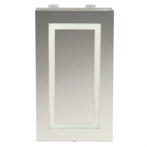 bathroom medicine cabinets with led lights glacier bay 15 in x 26 in frameless surface mount led