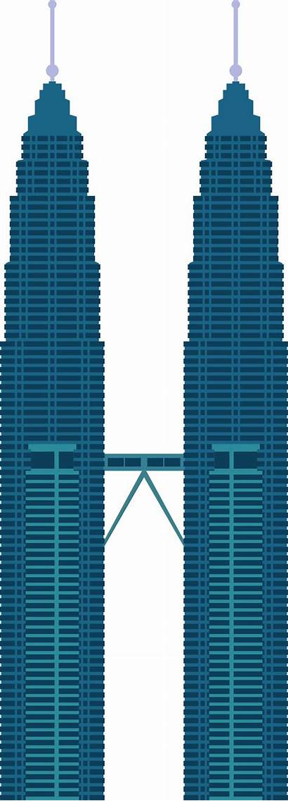 Towers Twin Clipart Petronas Tower Clip Malaysia