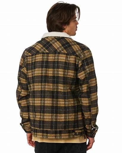 Plaid Mens Rvca Jacket Sherpa Daggers Jackets
