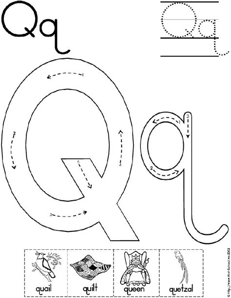 15 Educative Letter Q Worksheets | KittyBabyLove.com