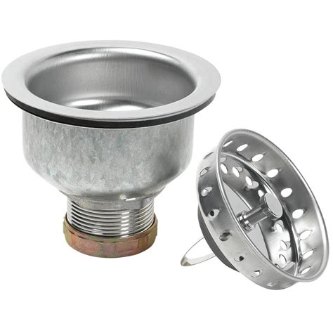 kitchen sink basket strainer replacement glacier bay specification sink strainer in stainless steel 8447