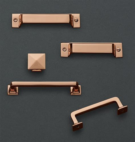 copper kitchen cabinet hardware modern copper cabinet pulls home decor