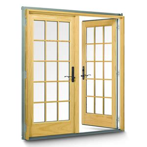 frenchwood hinged patio doors by andersen hybar