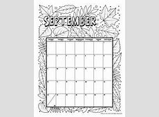 Printable Coloring Calendar for 2018 coloring pages
