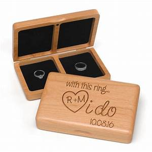 personalized i do wooden wedding ring box candy cake With ring case for wedding
