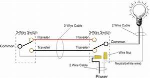 how to wire a 3 way light switch or dimmer With wiring 3 way switch