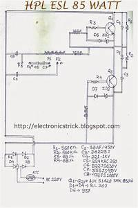 Electronics Tricks And Tips  Hcl Esl 85 Watt Cfl Bulb Ckt