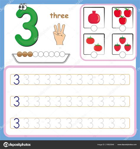number cards counting  writing numbers learning