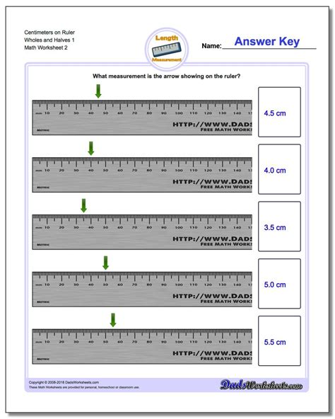 centimeters  ruler