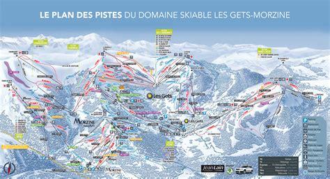 les gets trail map
