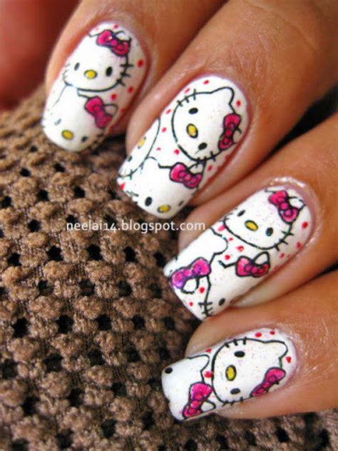 cute  kitty nail art designs hative
