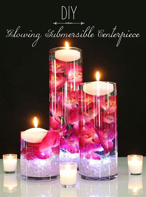 diy glowing submersible centerpiece afloral com wedding