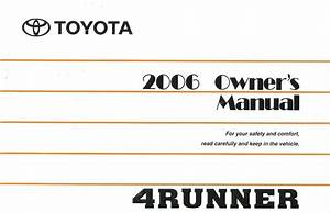 2006 Toyota 4runner Owners Manual User Guide Reference