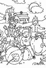 Coloring Harvests Pumpkin Giant Feast sketch template