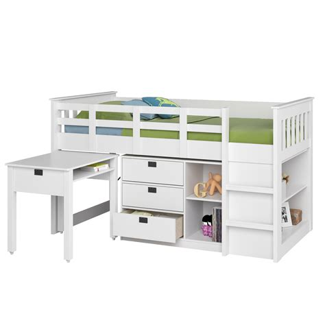 amazon loft bed with desk amazon com corliving bmg 310 b madison loft bed with