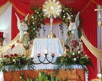 altar corpus christi decoraciones de altar decoracion
