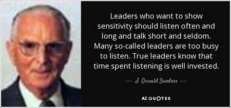 oswald sanders quote leaders    show
