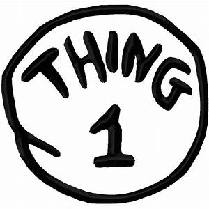 thing 1 printable image clipart best With thing 1 and thing 2 printable template