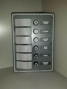 Blue Sea Switch Water Resistant Fuse Panel 6 Position